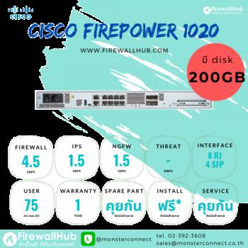 Cisco Firepower 1020 NGFW Appliance